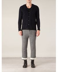 Side Slope - Gray Herringbone Cropped Trousers for Men - Lyst