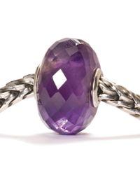 Trollbeads - Purple Amethyst Stone Charm Bead - Lyst
