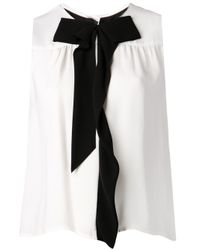 Marc Jacobs - White Contrast Bow Blouse - Lyst