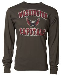 47 Brand - Gray Men's Long-sleeve Washington Capitals Flanker T-shirt for Men - Lyst