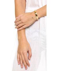 Cloverpost - Metallic Crystal Cuff Bracelet - Lyst
