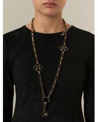 Lanvin - Metallic Key Pendant Necklace - Lyst
