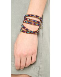 Chan Luu | Multicolor Lapis Beaded Wrap Bracelet | Lyst