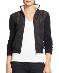 Lauren by Ralph Lauren - Black Active Mockneck Jacket - Lyst