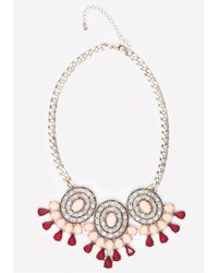 Bebe | Metallic Triple Station Necklace | Lyst