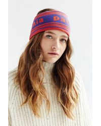 Patagonia | Orange Lined Knit Printed Headband | Lyst