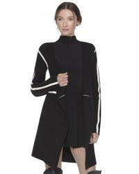 Alice + Olivia - Black Kalea Contrast Wool Coat - Lyst