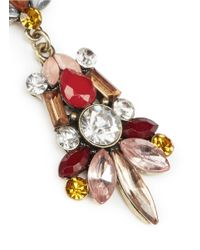 Kenneth Jay Lane | Red Crystal And Stone Drop Earrings | Lyst