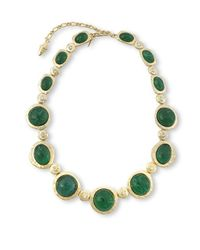 Kenneth Jay Lane | Green Emerald Cabochons Necklace | Lyst