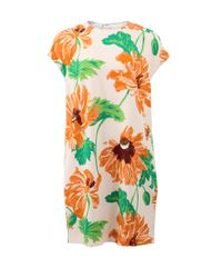 Stella McCartney - Green Poppies Print Dress - Lyst