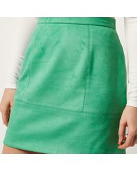 River Island - Green Faux Suede A-line Skirt - Lyst