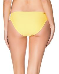 Jessica Simpson | Yellow Crochet-tab Hipster Bikini Bottom | Lyst