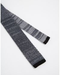 Minimum - Gray Knitted Tie for Men - Lyst