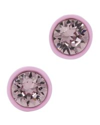 Givenchy - Light Pink Crystal Magnetic Earrings - Lyst