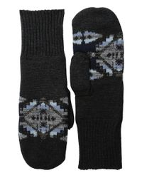 Pendleton | Black Fleece Lined Mittens | Lyst