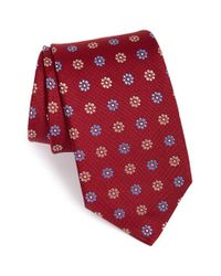 Eton of Sweden | Red Floral Print Silk Tie for Men | Lyst