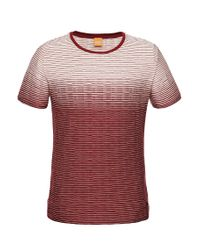 BOSS Orange | Red Regular-fit T-shirt 'tavariz' In Cotton Blend for Men | Lyst