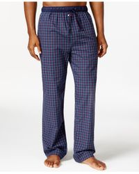 Tommy Hilfiger | Blue Woven Plaid Pajama Pants for Men | Lyst