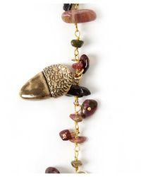 Rosantica - Metallic Gold-tone Pigne Acorn Necklace - Lyst