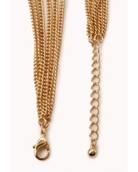 Forever 21 | Metallic Underground Layered Chain Necklace | Lyst