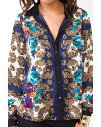 Forever 21 - Multicolor Plus Size Abstract Geo Print Top - Lyst