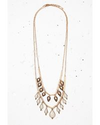 Forever 21 | White Faux Stone Necklace Set | Lyst