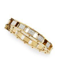 Lele Sadoughi | Metallic Pave Mini Cube Slider Bracelet | Lyst
