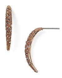 Alexis Bittar   Pink Miss Havisham Encrusted Arc Spear Drop Earring   Lyst