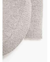 Mango - Gray Turtle Neck Sweater - Lyst