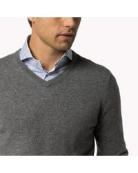Tommy Hilfiger - Gray Jamieson Cashmere V-neck Sweater for Men - Lyst
