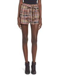 Lush | Multicolor Print Tie Front Woven Shorts | Lyst