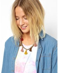 ASOS - Red Limited Edition Tassel Necklace - Lyst