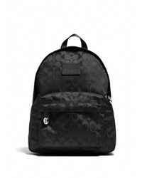 COACH | Black Small Logo-patterned Nylon Backpack | Lyst