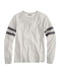 J.Crew - Gray Slim Football Tee in Double Stripe for Men - Lyst