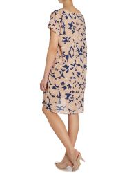 Ichi - Blue Bonip Knee Length Dress - Lyst