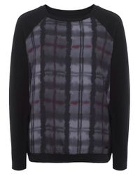 Barbour | Black Millfire Checked Top | Lyst
