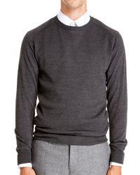 DKNY - Gray Half Raglan Pullover for Men - Lyst