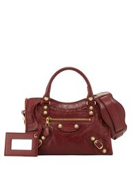 Balenciaga - Red Giant 12 City Mini Lambskin Tote Bag - Lyst
