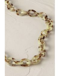 Anthropologie | Green Tortoiseshell Links Necklace | Lyst