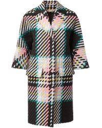 Marni - Black Tweed Coat - Lyst