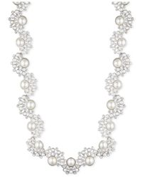 Givenchy | White Silver-tone Faux Pearl And Crystal Necklace | Lyst