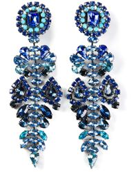 Ermanno Scervino | Blue Stone Embellished Earrings | Lyst