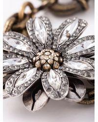 Lanvin - Gray Flower Bracelet - Lyst