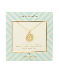 kate spade new york | Metallic One In A Million Letter Q Pendant Necklace | Lyst