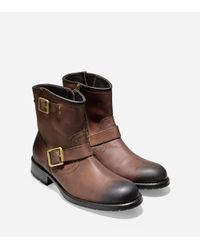 Cole Haan | Brown Wayne Zip Boot for Men | Lyst