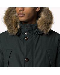 Tommy Hilfiger | Green Cotton Blend Down Jacket for Men | Lyst