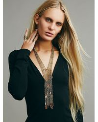 Free People | Metallic Womens Raindrops Necklace | Lyst
