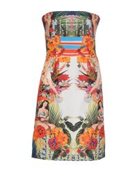 Pinko - Orange Short Dress - Lyst