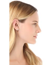 Tai - Blue Crystal Button Earrings - Lyst