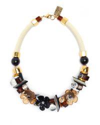 Lizzie Fortunato | Black Retro Flower Necklace | Lyst